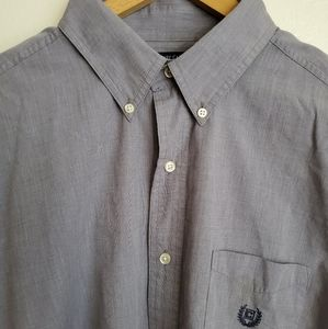 Chaps | Steel Blue EasyCare ButtonUp Collard Shirt